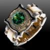 Золотой перстень-печатка «Dragon Eye».
