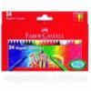 Карандаши цветные Faber_Castell 120057 24цвета 24шт 75мм воск Код:401626024