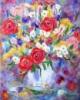 Картина маслом. Нежность весны в хрустале. Холст на подрамнике 40х50 см.