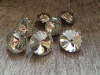 Пуговицы с кристаллами «Алмазная Роза» 25 мм