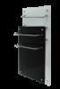 Полотенцесушитель Evolution Duo HGlass GHT 5010 (стеклокерамика) чёрный белый 500*1000*12 мм 500/250 Вт NTES