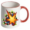 Принт на чашку с цветной каймой