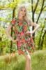 Легкое Летнее Платье Из Шифона В Цветочек (Мультицвет) 1191_1