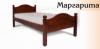 Кровать односпальная «Маргарита» из натурального дерева