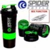 Спортивный Зеленый трехкомпонентный шейкер SPIDER 500 мл