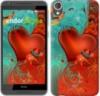 Чехол на HTC Desire 820 Сердце в цветах «220c-133-9980»