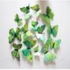 Объемные 3D бабочки на стену (обои) для декора (зеленые) Код:287268826