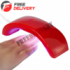 УФ-лампа для сушки, наращивания гелевых ногтей, МИНИ LED 12Вт USB +БП