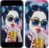 Чехол на iPhone 7 Арт-девушка в очках «3994c-336-14431»