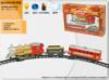 Залізна дорога «МАНДРIВКА В ЧАСI» K1105 (K1108) (24шт) світло, звук, дим, в українській коробці 38*26,5*7см
