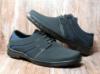 Туфли мужские на шнуровку черный с синим К13