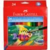 Карандаши цветные Faber_Castell 114425 24цвета шестигранные акварельные, картонная коробка с подвесом Код:401625491