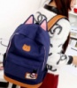 3-64 молодежный рюкзак / стильный / вместительный / женский рюкзак Цвет - синий
