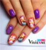 stickers for nails with colorful streaks and spots