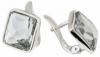 Серьги «Шедар» с кристаллами Swarovski покрытые родием (b832f100)