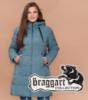 Braggart Diva 1931   Зимняя женская куртка большого размера светлая бирюза