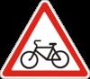 Предупреждающие знаки  1.34(Выезд велосипедистов)