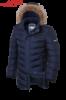 Куртка зимняя на меху удлиненная мужская Braggart Aggressive - 4755A темно-синяя