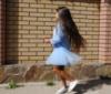 Детское платье нарядное Фрозен голубое (93) Код:615100381