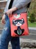 Кожаная сумка через плечо «Кот с воробьем»
