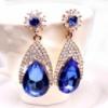 Серьги «Eulalia blue» позолоченные с кристаллами swarovski