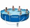Круглый каркасный бассейн Metal Frame Pool Intex 366х76 см (28212)