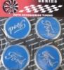 Наклейки на колпаки,диски Ford (4шт)