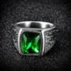 Мужское кольцо Изумруд