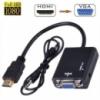 HDMI на VGA адаптер конвертер видео + аудио 1080