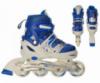 Роликовые коньки (ролики) 12100  «S, M и L» раздвижные (синие)