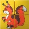 Детские мягкие кубики: Собери картинку - Дикие животные 4 штуки (в пакете)