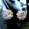 Серьги «Lorenza» покрытие серебро с кристаллами swarovski