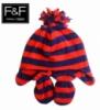 Набор шапка и варежки для малышей флисовый на хлопковой подкладке, бренд «F&F (Tesco)» (Англия)
