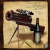Мини бар из дерева сувенирный Пулемет