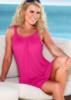 Однотонное лёгкое пляжное платье для летнего отдыха
