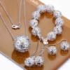 Комплект бижутерии в стиле Tiffany & Co «Ажурный шар»