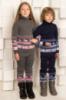 Детский вязанный свитер, унисекс, р.104-122