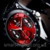 Мужские механические часы Winner F1 с красным циферблатом