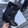 Ботинки демисезонные копия Givenchy черная кожа
