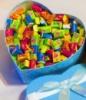 Жвачки Love is в коробочке сердце