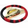 Оплетка руля  16112 L черная с красным чехлом