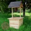 Деревянный колодец для сада