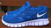 Кроссовки мужские Nike free run 2.0 (найк фри ран синие сетка)