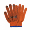 Перчатки трикотажные с ПВХ точкой р10 Лайт (оранжевые) Grad (9442775)