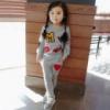 Спортивный костюм для девочек серый 7714