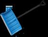 Лопата-плуг для уборки снега с изогнутым черенком