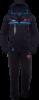 Спортивный костюм с капюшоном Bikk - 387K черно-бирюзовый