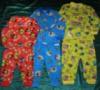 Пижама цветная на 2-х пуговицах (кулир)