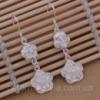 Ювелирная бижутерия Tiffany серьги- подвески «цветочки» (покрытие серебро 925).