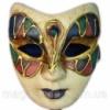 Маска карнавальная Венецианская папье-маше (23см) Код:29032